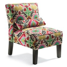 Don't like the fabric, but like the style of this chair.