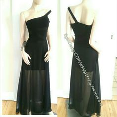 Bebe Maxi Black Dress Xs S