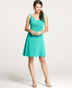 Ann Taylor - Bridesmaid Dresses: Bridal Party Dresses, Bridesmaid Dress: ANN TAYLOR - Jersey Twisted Shoulder Strap Dress
