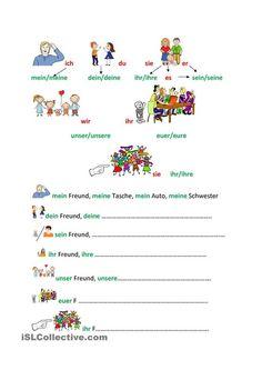 Personal- und Possessivpronomen Duits - Deutsch - bezittelijk voornaamwoord
