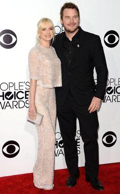 Anna Faris & Chris Pratt from 2014 People's Choice Awards Arrivals | E! Online