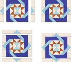 Use my Labyrinth quilt block pattern to create an interlocking pathway around Variable Star quilt blocks. Includes options to help you customize the block.: Finish Sewing the Labyrinth Quilt Block