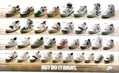 40 Awesome Vintage Nike Sneaker Ads You Don't Remember Nike Heels, New Nike Shoes, Nike Shoes Outlet, Sneakers Nike, Vintage Nike, Vintage Ads, Old Nikes, Nike Poster, Nike Ad