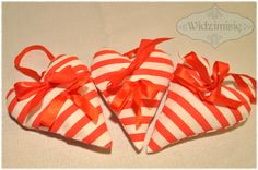 ręcznie szyte serduszka #handmade #serce #heart #love #gift