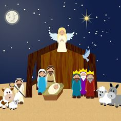 "173 Likes, 7 Comments - Clip Art, Scrapbooking, Design (@savanasdesign) on Instagram: ""Our Nativity Scene Clipart is here for the holidays! https://www.etsy.com/listing/484088380/…"""