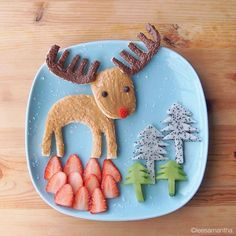 Rudolph the Red-Nosed Reindeer #leesamantha #foodart