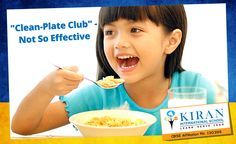 """""""Most parents would force their kids to eat everything that's on their plate. But it is suggested to let them stop eating when they feel they have had enough. One tip is to serve light at first so that they can ask again if they want. #Healthtips #Foodhabits #Effectiveparenting"""" http://bit.ly/1Uxpcfq"""