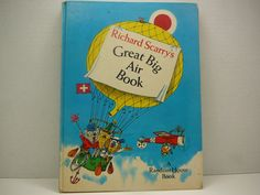 Richard Scarry's Great Big Air Book, 1971, Richard Scarry, Random House book, vintage kids book