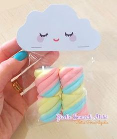 via Etsy. - would be pretty on a journal or photo album too. Cloud Party, Rainbow Birthday Party, Unicorn Birthday Parties, Rainbow Parties, Baby Shawer, Bebe Rexha, Rainbow Baby, Baby Party, Toddler Party Favors