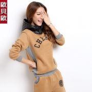 2012 Herbst-und Winterkleidung neue weibliche Modelle Trainingsjacke koreanische Version von Casual Nähte Kapuzenpulli weiblichen