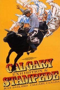 calgary stampede posters 1969