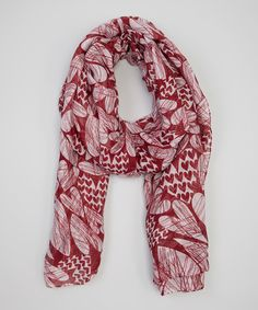 Loving this Red Mod Hearts Scarf on #zulily! #zulilyfinds
