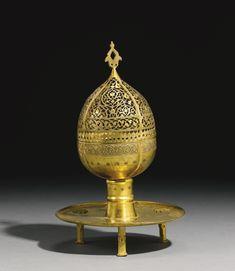 A rare and important Ottoman tombak incense burner (Buhurdan), Turkey, late 16th/17th Century | Lot | Sotheby's