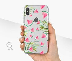 Watermelon Clear Phone Case - Clear Case - For iPhone 8 - iPhone X - iPhone 7 Plus - iPhone 6 - iPhone 6S - iPhone SE Transparent Summer #iphone6spluscase,