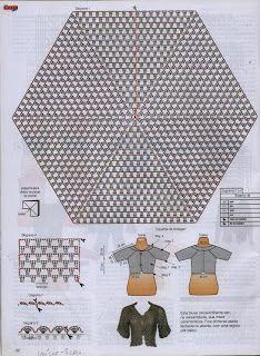La toile d'Hélène: Lo schema del giacchino super rapido / brazilian pattern crochet