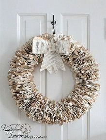 book page wreath, crafts, wreaths
