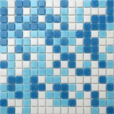 Blue & White Vitreous Glass Mosaic Tiles Sheet. This blue and white glass tile is the perfect addition to your kitchen or bathroom. Its retro feels adds an extra dimension to that otherwise modern kitchen.