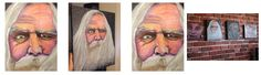"14"" x 18"" Santa Painting Acrylic Painting on Canvas. Oil painting portrait of a face on board of an older man with a beard. This is one of my favorite paintings I have ever done."