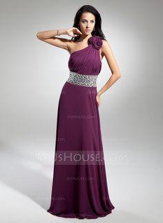 Evening Dresses - $146.99 - A-Line/Princess One-Shoulder Floor-Length Chiffon Evening Dress With Ruffle Beading Flower(s) (017014886) http://jjshouse.com/A-Line-Princess-One-Shoulder-Floor-Length-Chiffon-Evening-Dress-With-Ruffle-Beading-Flower-S-017014886-g14886?pos=your_recent_history_12