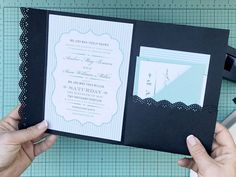 Hack an envelope into a wedding invitation pocketfold | Download & Print