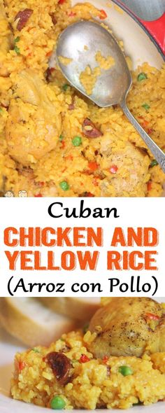 Chicken and yellow rice arroz con pollo cuban chicken rice cuban yellow rice yellow rice recipe cuban food Coco and Ash Video Rezept Cuban Rice And Beans, Rice And Beans Recipe, Yellow Rice Recipes, Cuban Yellow Rice Recipe, Pollo Recipe, Arroz Con Pollo Cuban Recipe, Arroz Amarillo Recipe, Cuban Dishes, Slow Cooker