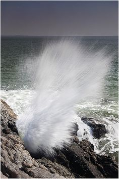 Ocean Splash - This photograph was taken near Om beach at Gokarna.