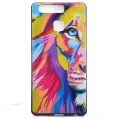 TPU hoesje voor Huawei P9 Abstract lion