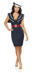 Sassy Bettie Pin Up Sailor Girl Halloween Costume