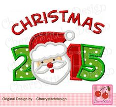 Christmas 2015 with Santa Claus Digital by CherryStitchDesign