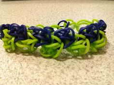 Rainbow Loom Zigzag in Navy and Lime Bracelet by AbbiesHobbies, $2.30 http://www.etsy.com/listing/167181434/rainbow-loom-zigzag-in-navy-and-lime?utm_source=Pinterest&utm_medium=PageTools&utm_campaign=Share