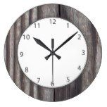 Weathered Country Wood Grey Numbers Large Clock  #Clock #Country #Grey #Large #Numbers #RusticClock #Weathered #Wood The Rustic Clock