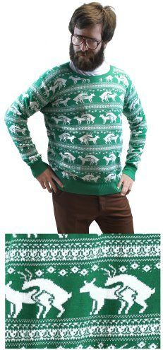 Reindeer Humping Ugly Christmas Sweater Holiday Insertion & Christmas Dongs