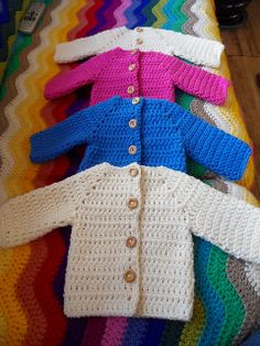 Crocheted Baby Sweater pattern by Beth Koskie