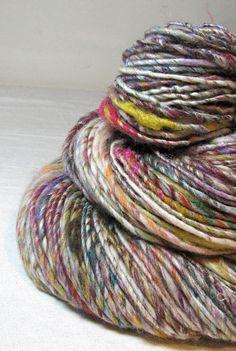 Handspun Art Yarn Gently Thick and Thin Single by SheepingBeauty, $32.00