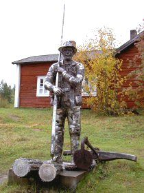 Kalle Päätalo childhood home, Kallioniemi, Taivalkoski, Lapland, Finland www.fi and www. Lapland Finland, A4, Garden Sculpture, Writer, November, Novels, Childhood, Culture, Popular