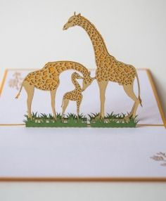 giraffe family card detail inside