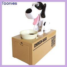 Cute 6 Colours Super Fun Cartoon Money-boxes Creative Birthday Gift Supply Dog Piggy Bank Children's Day Money Box Saving Banks