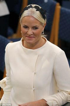 Norway's Crown Princess Mette-Marit pictured as she arrives at the Nobel Peace Prize cerem...