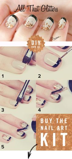 Buy the glitter kit here ➜ http://www.nastynails.com/all-that-glitters    I am so trying!  #nailart