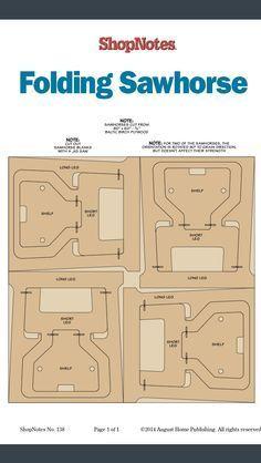 Compact Folding Sawhorse from ShopNotes Magazine episode 138