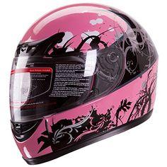 Gloss Pink Japanese Style Motorcycle Street Bike Full Face Helmet