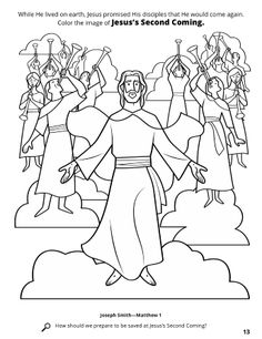 Really the only coloring page for the second coming that I
