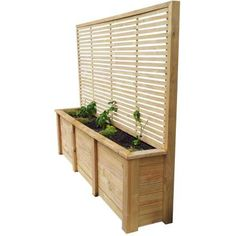 PLANTER & TRELLIS COMBO 2490x1950x500 - Breswa Outdoor Furniture