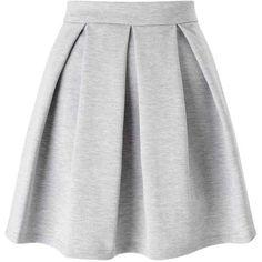 Miss Selfridge Grey Ponte Skater Skirt ($49) ❤ liked on Polyvore featuring skirts, bottoms, grey, miss selfridge, grey skirt, flared skirt, gray skirt and grey skater skirt