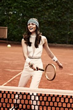 Italian Vogue tennis shoot.. I might start playing in outfits like this.. haha