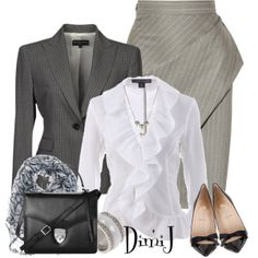Office Look, created by dimij on Polyvore