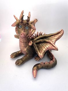 Tiny Dragon, Little Dragon, Dragon Art, Dragon Miniatures, Polymer Clay Dragon, Dragon Figurines, Clay Figurine, Fairy Dolls, Whimsical Art