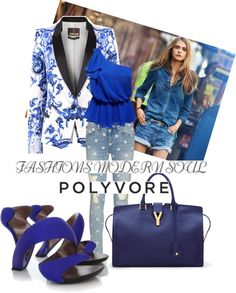 """Baby's got blue eyes"" by rebeccacampion on Polyvore"