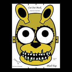 Plush Trap Mask Five Nights at Freddy's FNAF Gold by RockitfishRay