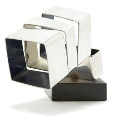 Beverly Pepper American, b. 1922 Untitled Stamped Pepper at edge Paint and stainless steel 3 x 5 x 2 inches